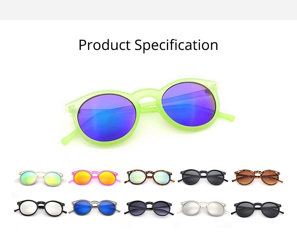 Fashion Minimalist Round Frame Lady Sunglasses, Sunlight Protection Decoration Sanded Frame Sunglasses for Women 6