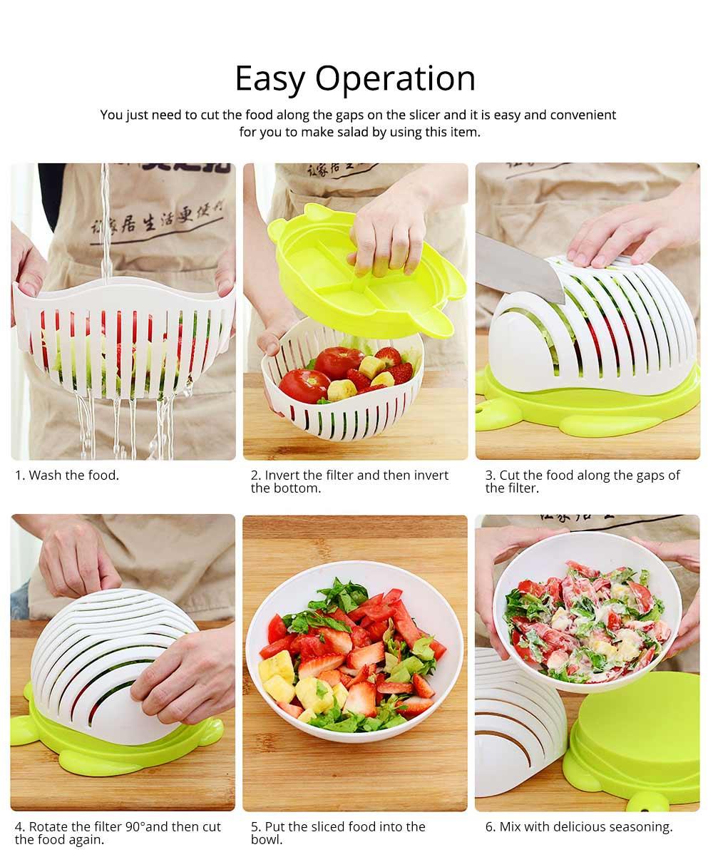 Easy Kit Salad Vegetable Fruits Slicer Chopper Bowl, Kitchen Fresh Food Washer Cutter Maker Tools 4
