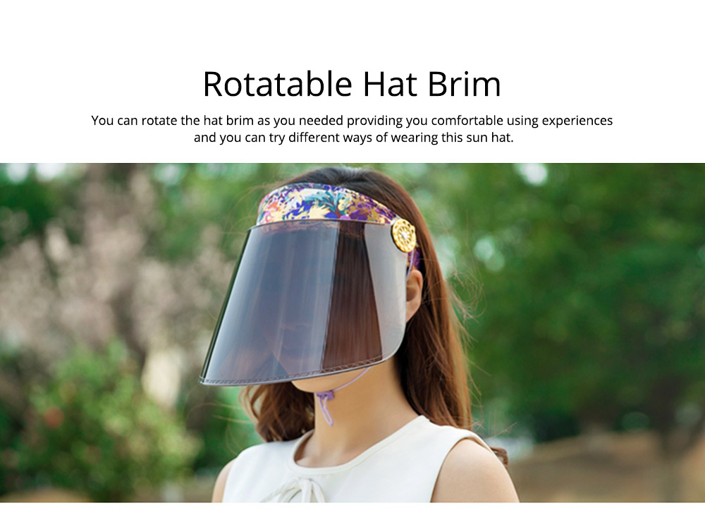 Unisex Summer Outdoor Driving Sun Hat Visor, UV Protection Waterproof PC Adult Cycling Sun Cap 2