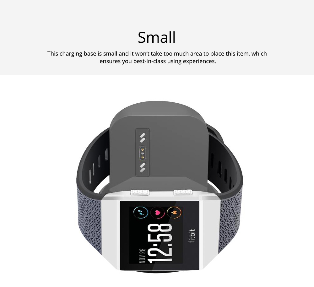 Small Ionic Watch Wireless Charging Base, Scratching-proof Silicone Smart Watch Charger 5