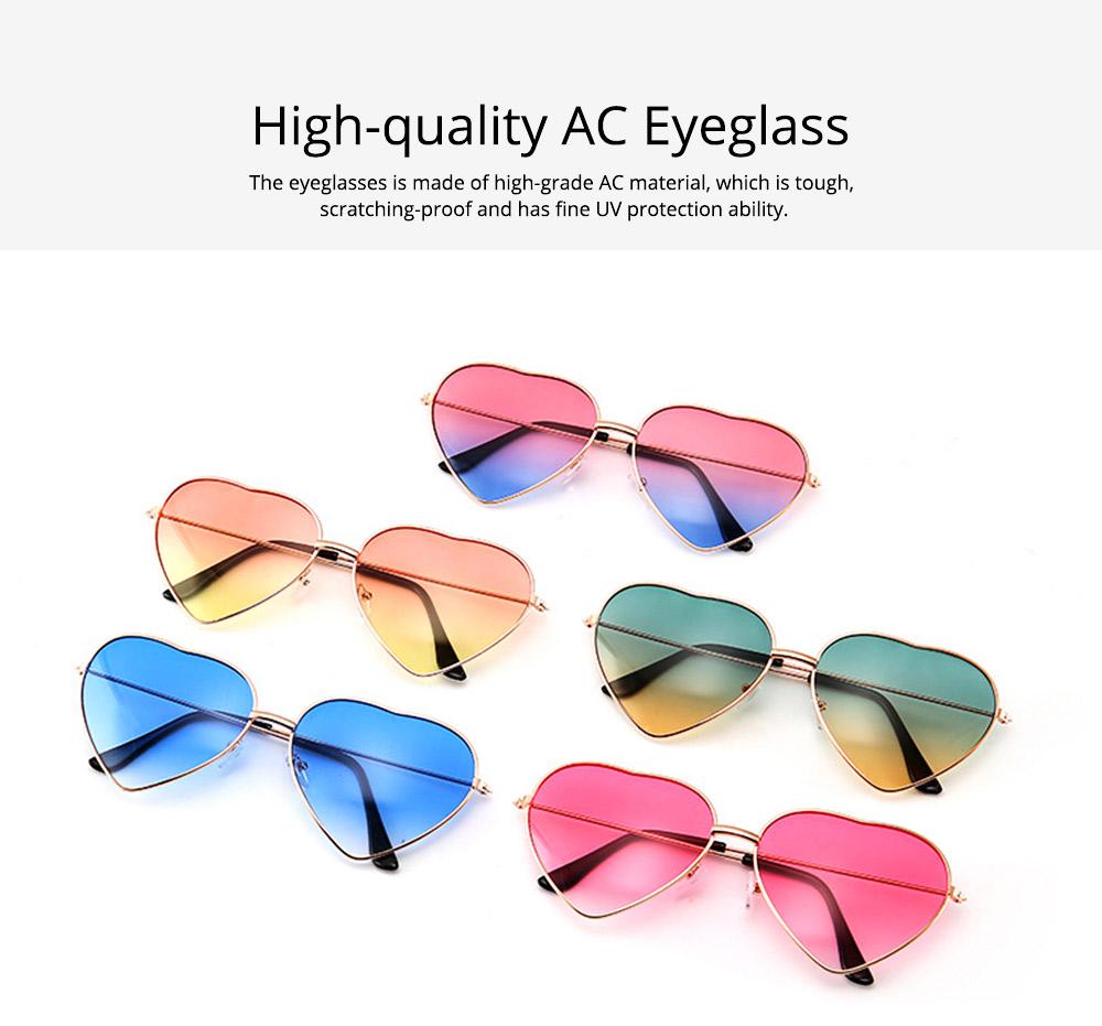 Minimalist Stylish Heart Shape Frame Unisex Sunglasses, Sun UV Protection Outdoors Decoration Dress Up Sunglasses for Ladies 1