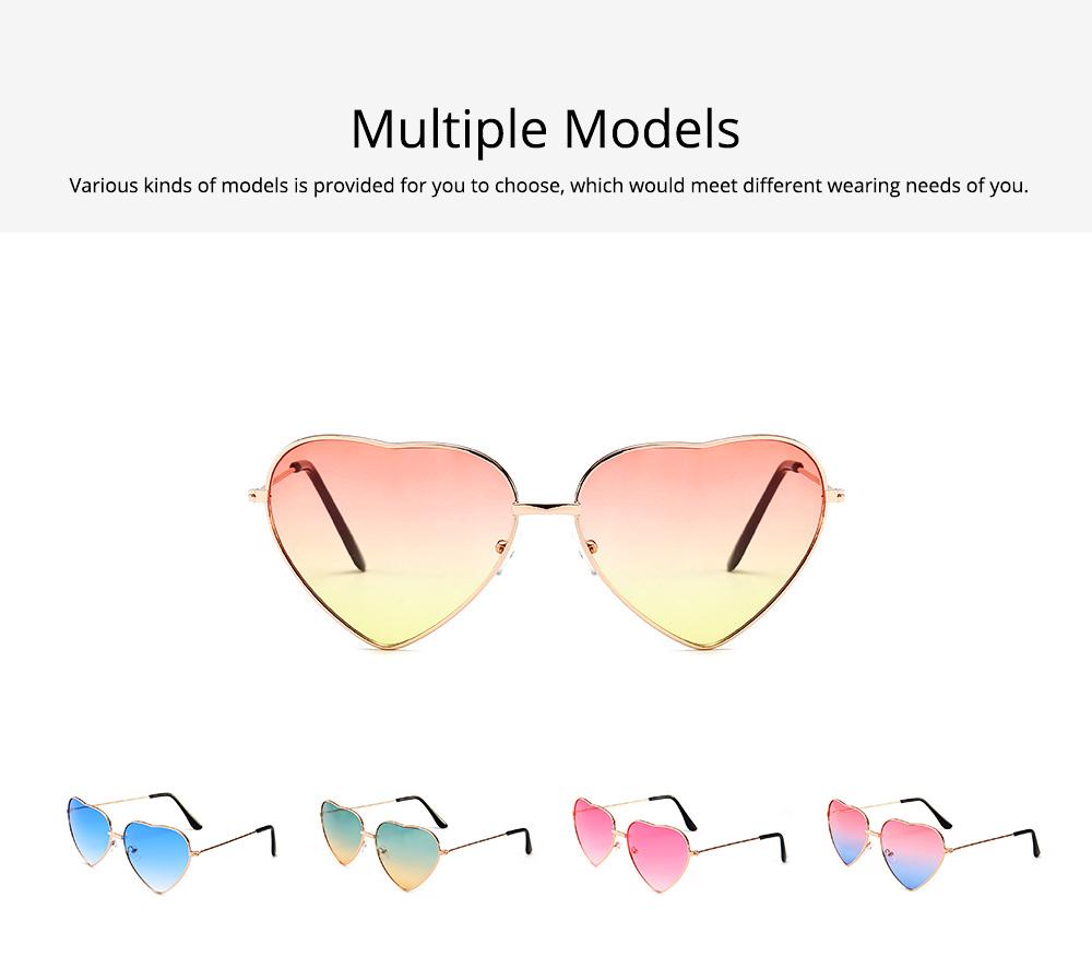 Minimalist Stylish Heart Shape Frame Unisex Sunglasses, Sun UV Protection Outdoors Decoration Dress Up Sunglasses for Ladies 4