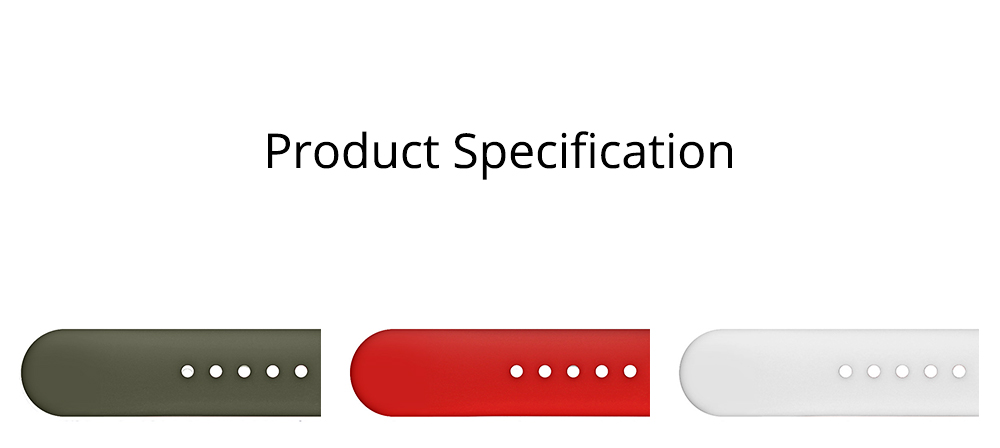 Skin-friendly Silicone Single Colored iWatch Watchband, Unisex Universal Sports Durable Apple Watch Strap 5