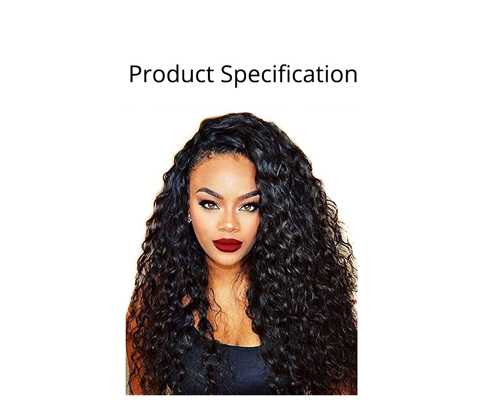 Delicate Black High-temperature Wire Long Curly Wig, Quality Wild-curl Up Hairpiece with Breathable Rose Model Inner Net 6