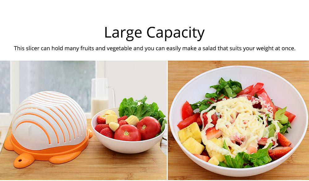 Easy Kit Salad Vegetable Fruits Slicer Chopper Bowl, Kitchen Fresh Food Washer Cutter Maker Tools 5