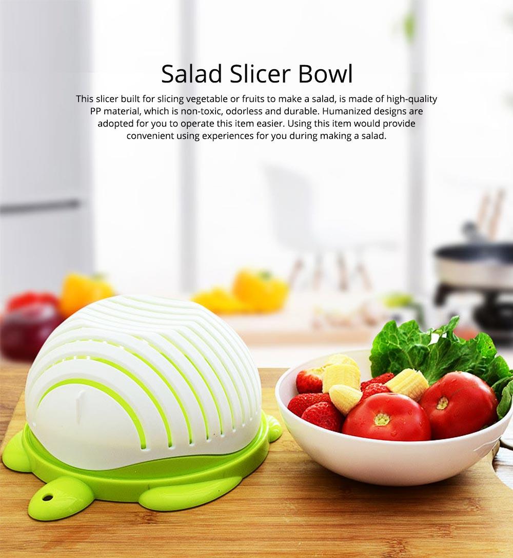 Easy Kit Salad Vegetable Fruits Slicer Chopper Bowl, Kitchen Fresh Food Washer Cutter Maker Tools 0
