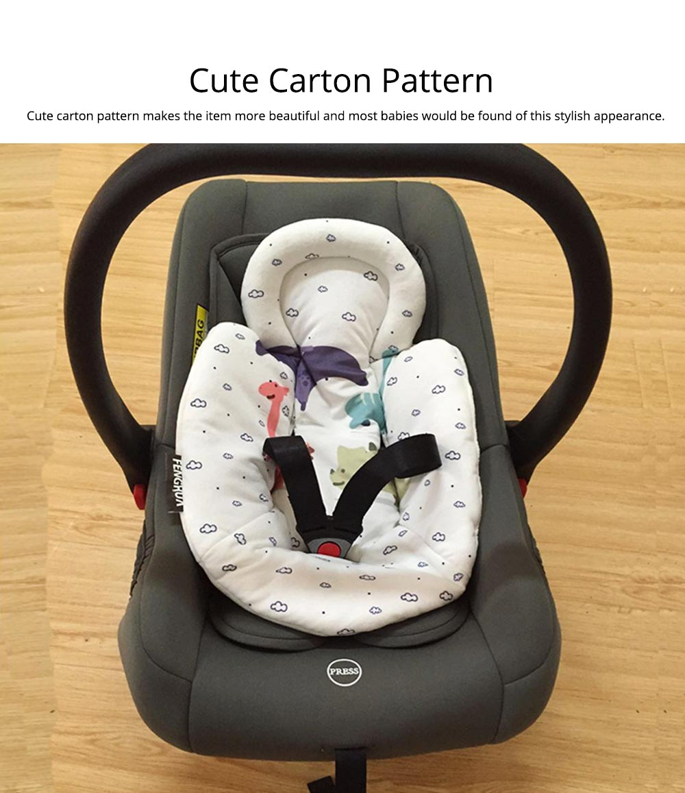 New-Born Baby Electric Stroller Carrier Quality Cotton Pad, Cut Carton Painting Child Infant Safety Seat Cushion Mat 4