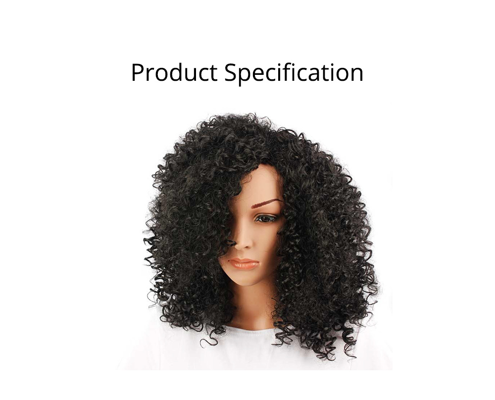 Delicate Short Fashion Kinky Curly Wig for Women, Tough High-temperature Wire Synthetic Hair for Ladies 6