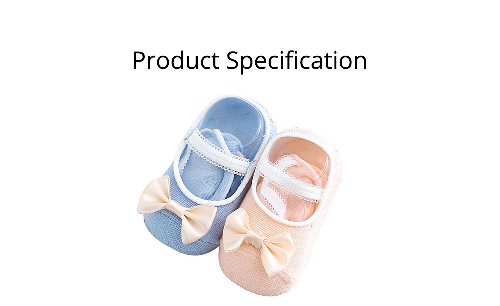 Socks Cotton Material Soft with Bow Strap, Anti-skid Foot Cover, Breathable Stockings for Kids Summer Spring 6
