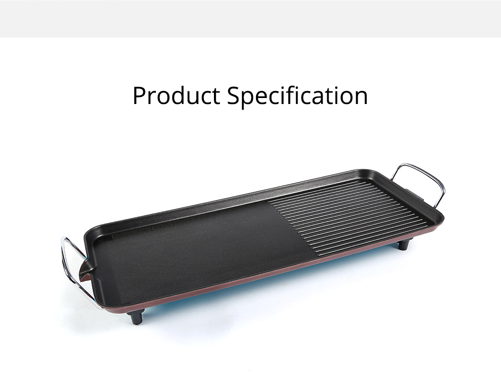 Multi-function Electric Baking Pan, Plate Smokeless Bakeware for Barbecue, Iron Material Baking Tray Home Outdoor Baking Plate 6
