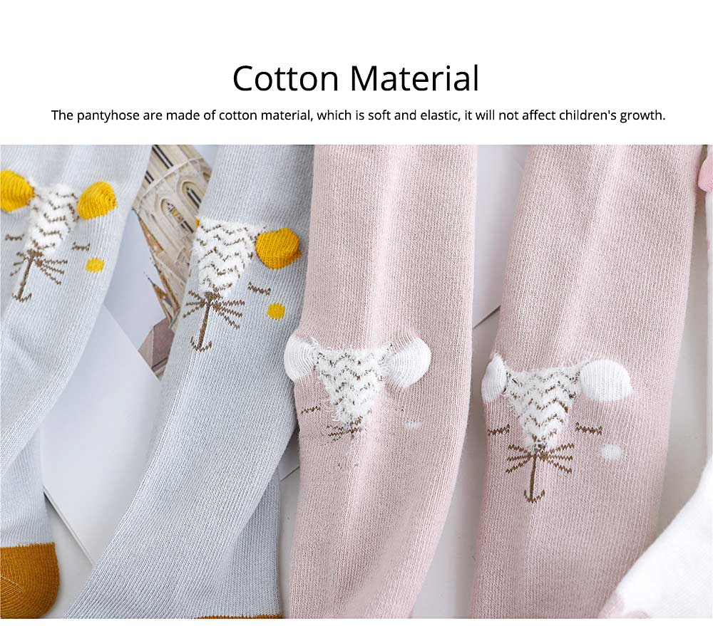 Kids Socks Cotton Material with Crotch, Elastic Tights Soft for Dancing, Non-trace Tailor Pantyhose for 0-3 Years Baby 1