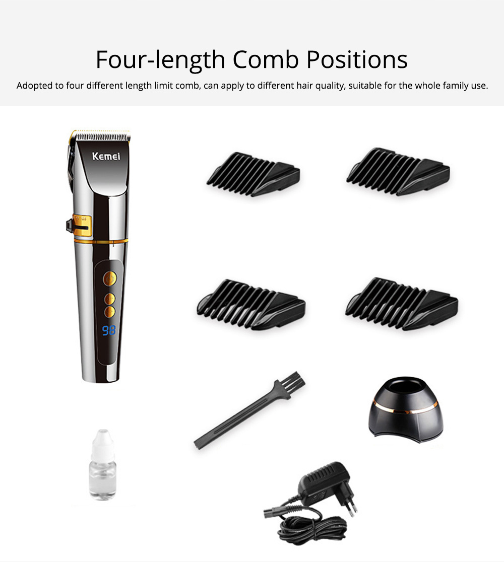 Professional Electric Hair Cutter, Barber Steel Material with LCD Screen, Fast Rechargeable Clipper Adjustable Switch Low Noise Hair Cutting Machine for Men Boy 1