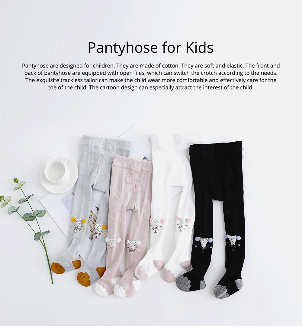 Kids Socks Cotton Material with Crotch, Elastic Tights Soft for Dancing, Non-trace Tailor Pantyhose for 0-3 Years Baby 0