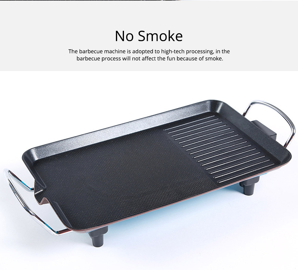 Multi-function Electric Baking Pan, Plate Smokeless Bakeware for Barbecue, Iron Material Baking Tray Home Outdoor Baking Plate 3