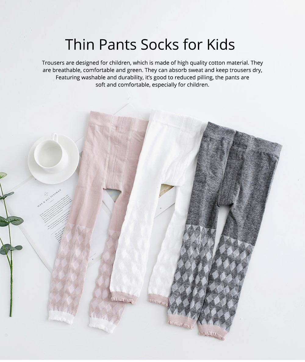 Pantyhose Cotton Material Breathable Leggings, Washable Ultra-thin Pants Socks for Kids, Durable Trousers Summer Spring 0
