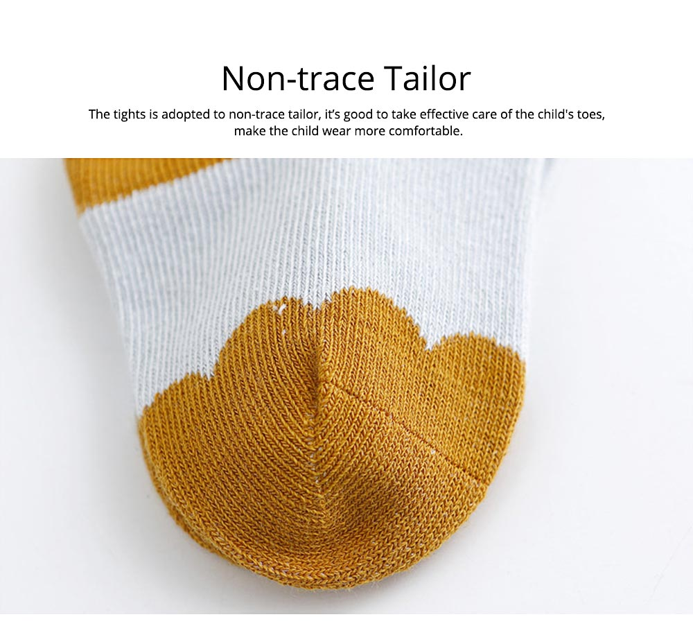 Kids Socks Cotton Material with Crotch, Elastic Tights Soft for Dancing, Non-trace Tailor Pantyhose for 0-3 Years Baby 3