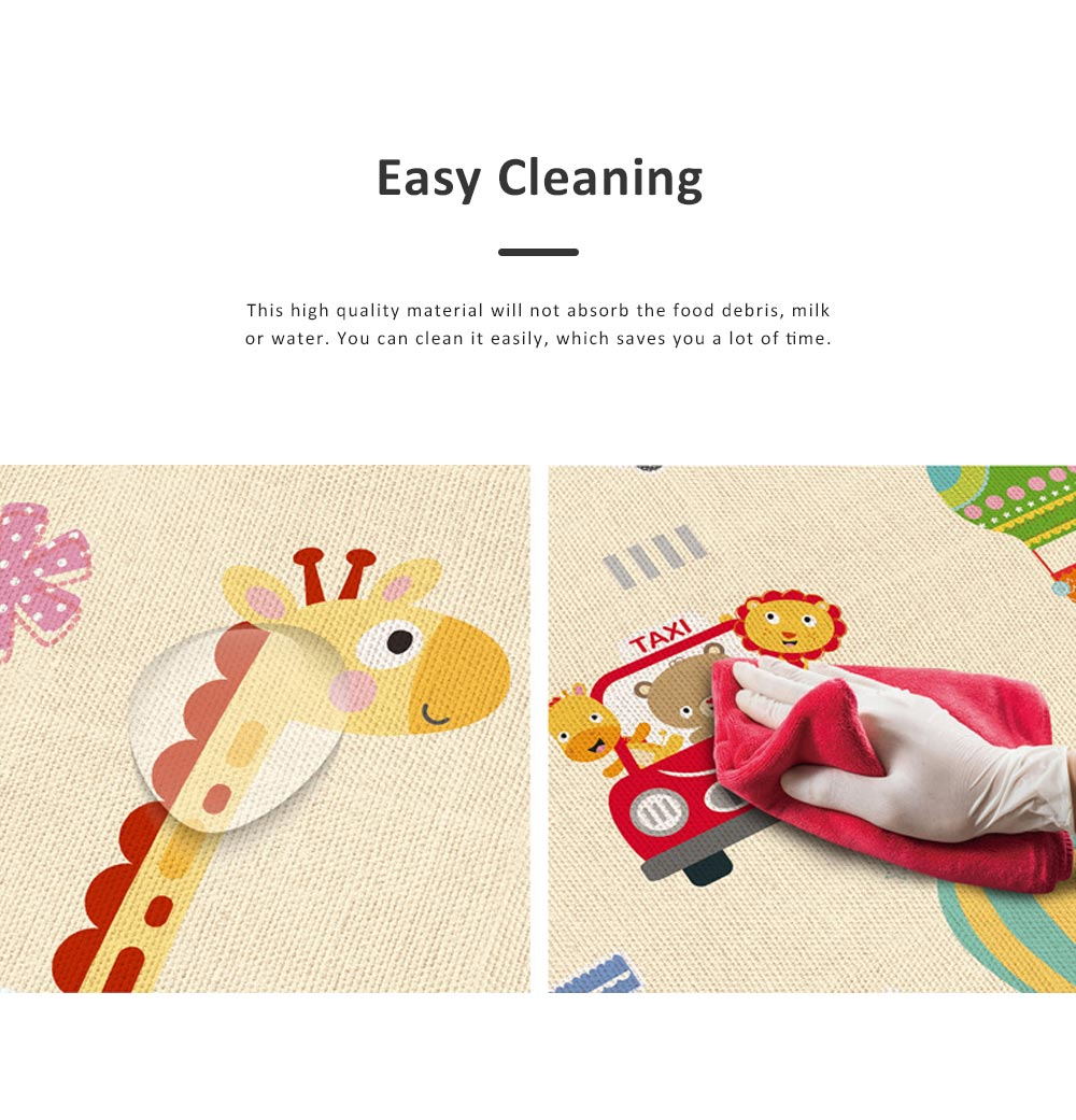 New Nontoxic Odorless LDPE Material Thicken Play Blanket for Baby, Cute Pattern Floor Crawling Mat Indoor Outdoor 3