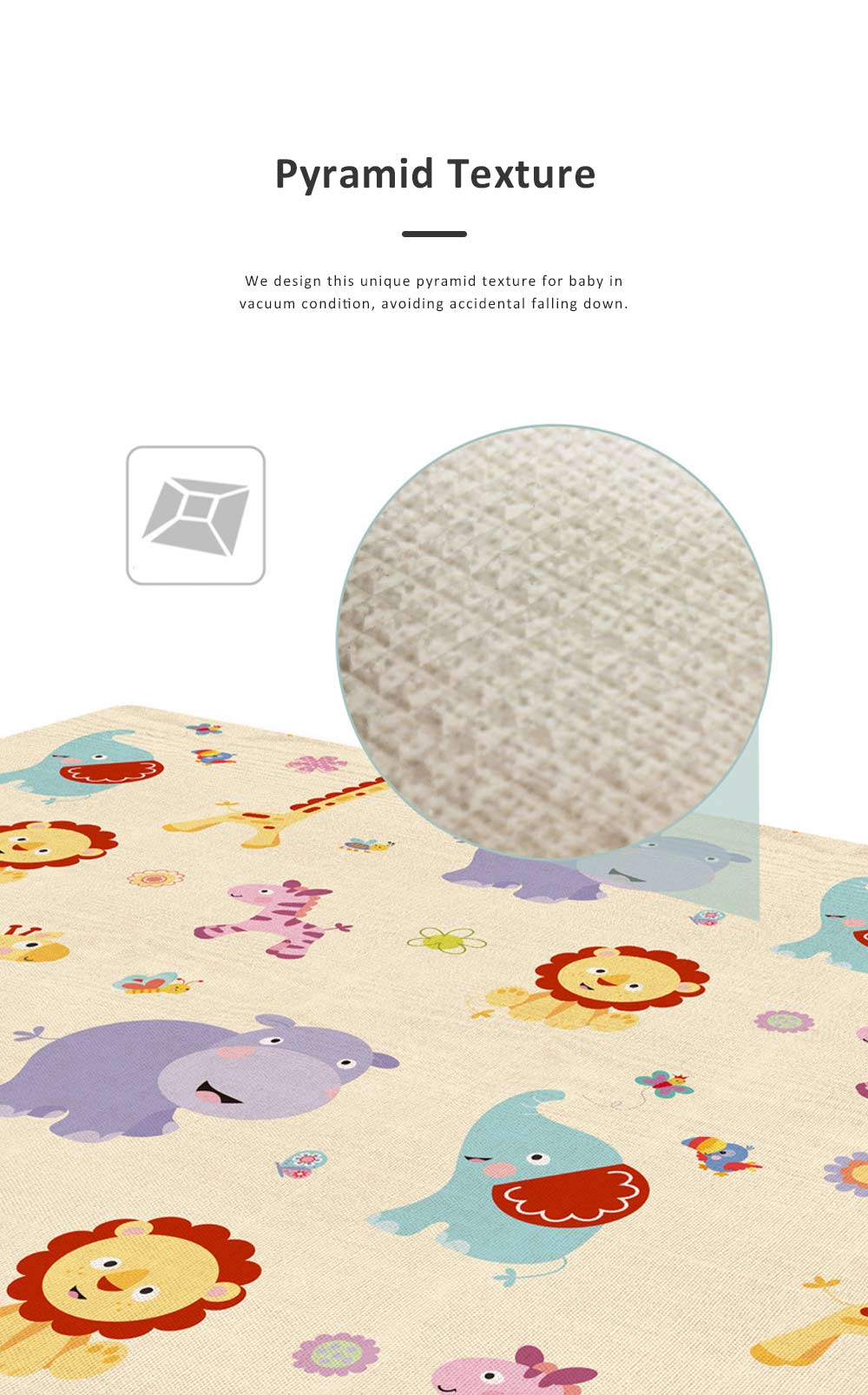 New Nontoxic Odorless LDPE Material Thicken Play Blanket for Baby, Cute Pattern Floor Crawling Mat Indoor Outdoor 1