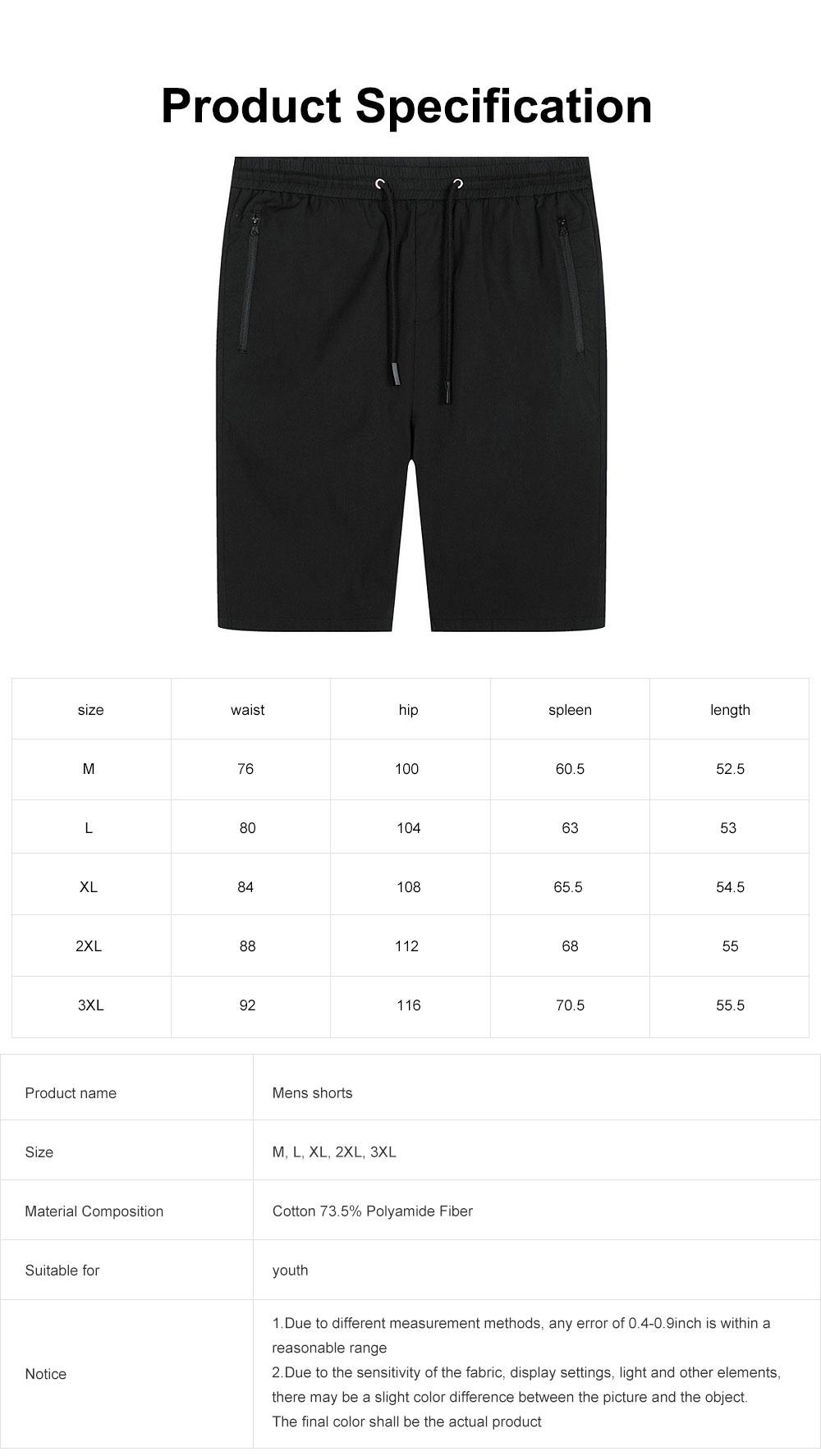 Mens Casual Classic Shorts, Fit Hybrid Chino Shorts, Drawstring Summer Beach Pants with 2 Pockets 6