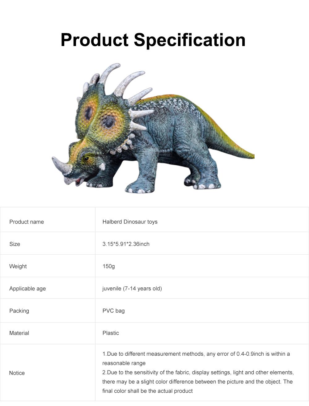 Simulation Halberd Dinosaur Toys, Solid No Stitching PVC Dinosaur Model, Educational Realistic Dinosaur Figures 6