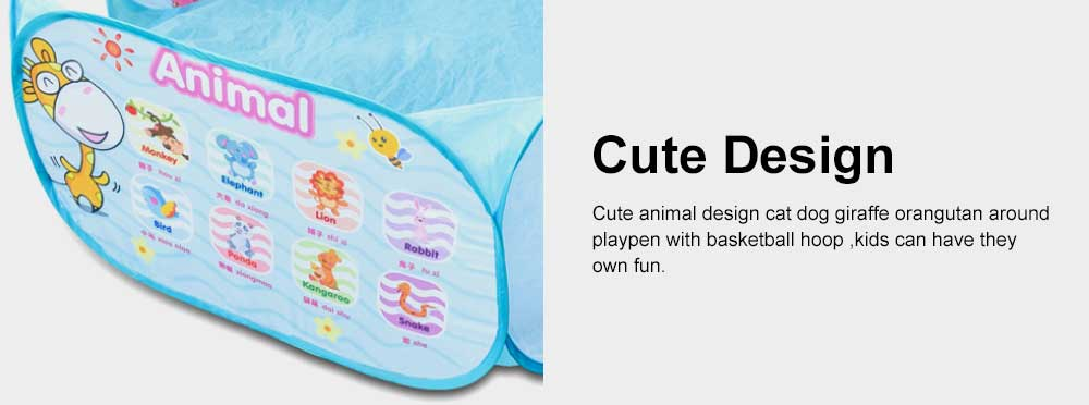 Baby Play Tent, Large Foldable Sea Ball Pits Pool with Basketball Hoopm, Baby Early Education Toys 3