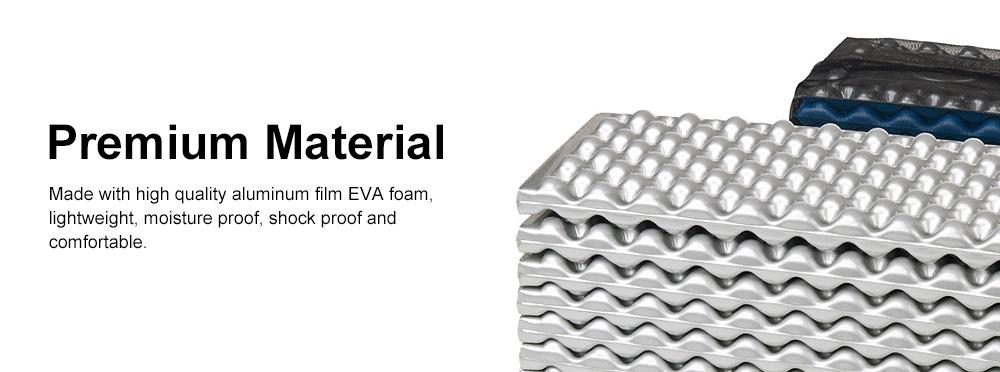 Moisture Proof Sleeping Pad, Portable Eva Aluminum Film Floor Mat, Seat Cushion Pad for Outdoor Camping Picnic 4