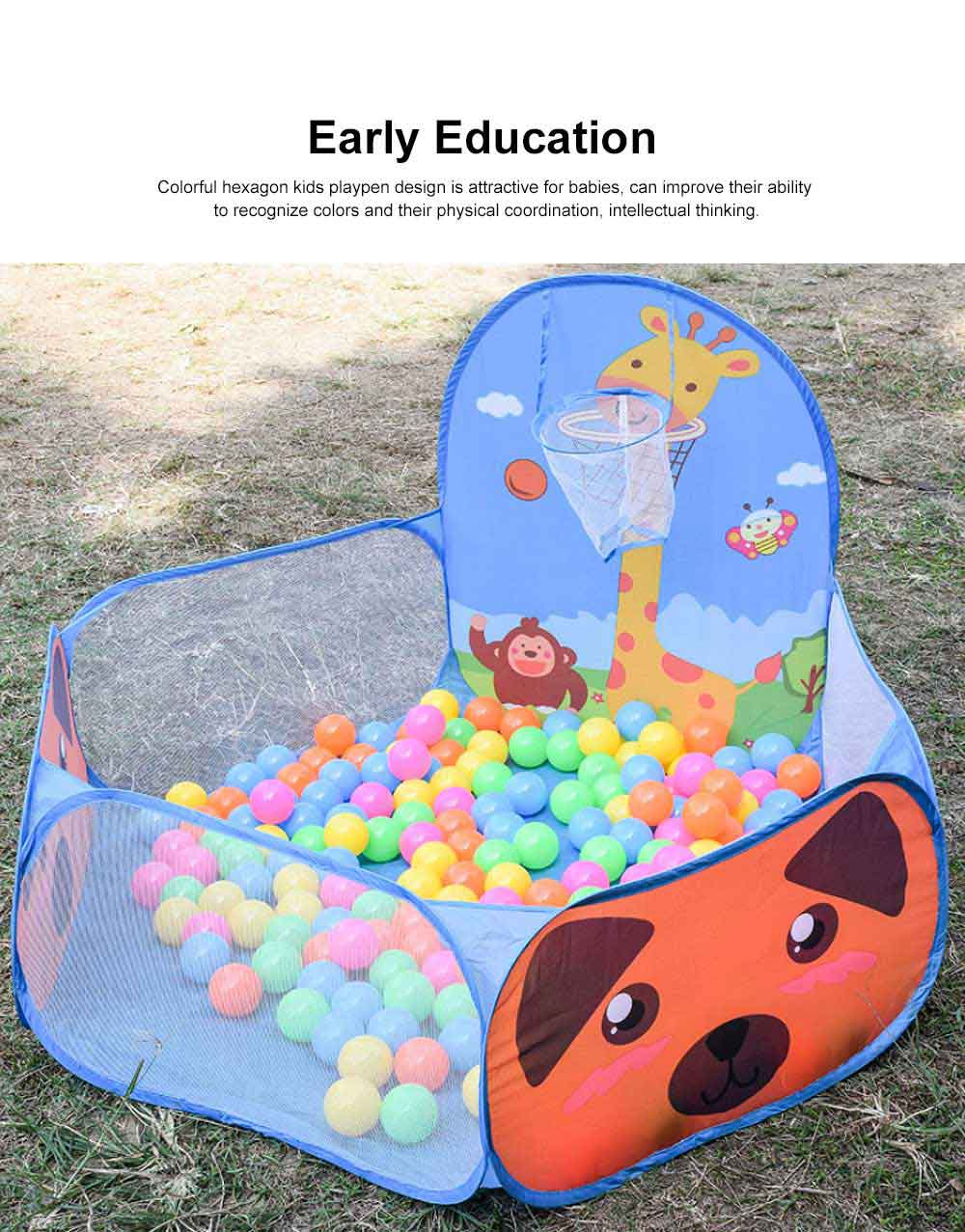 Baby Play Tent, Large Foldable Sea Ball Pits Pool with Basketball Hoopm, Baby Early Education Toys 1