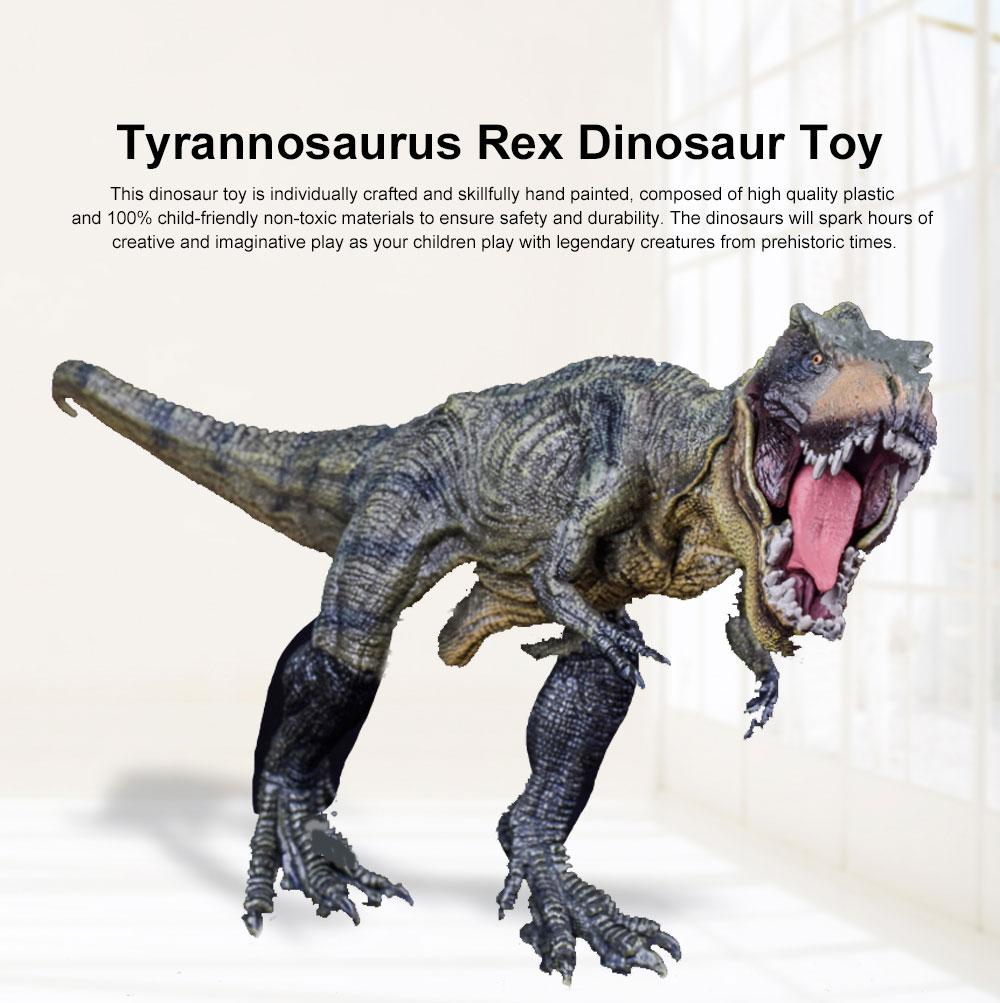 Solid Plastic Emulation Tyrannosaurus Rex Dinosaur Toy Animal Figure Model New