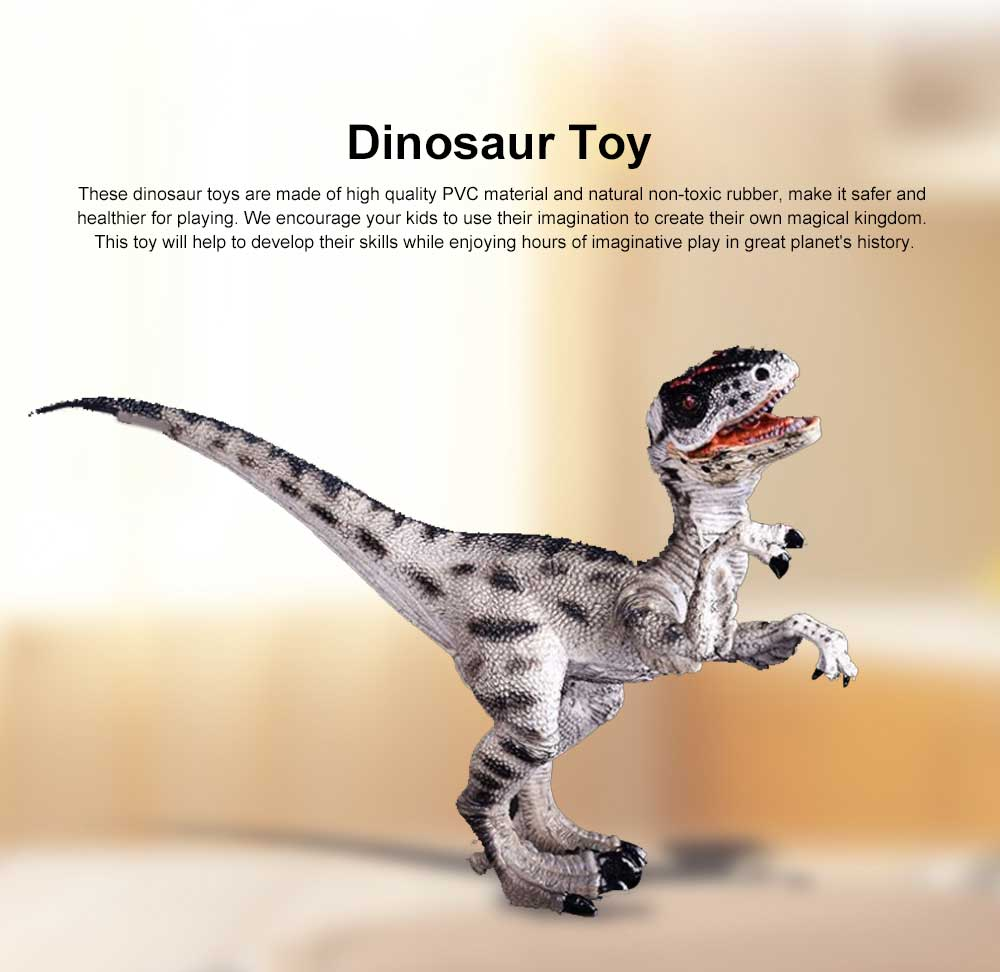 Raptor Dinosaur Toy, Jurassic Dinosaur World Simulation Animal Toy, Raptor Dragon Tyrannosaurus Spinosaurus Model 0