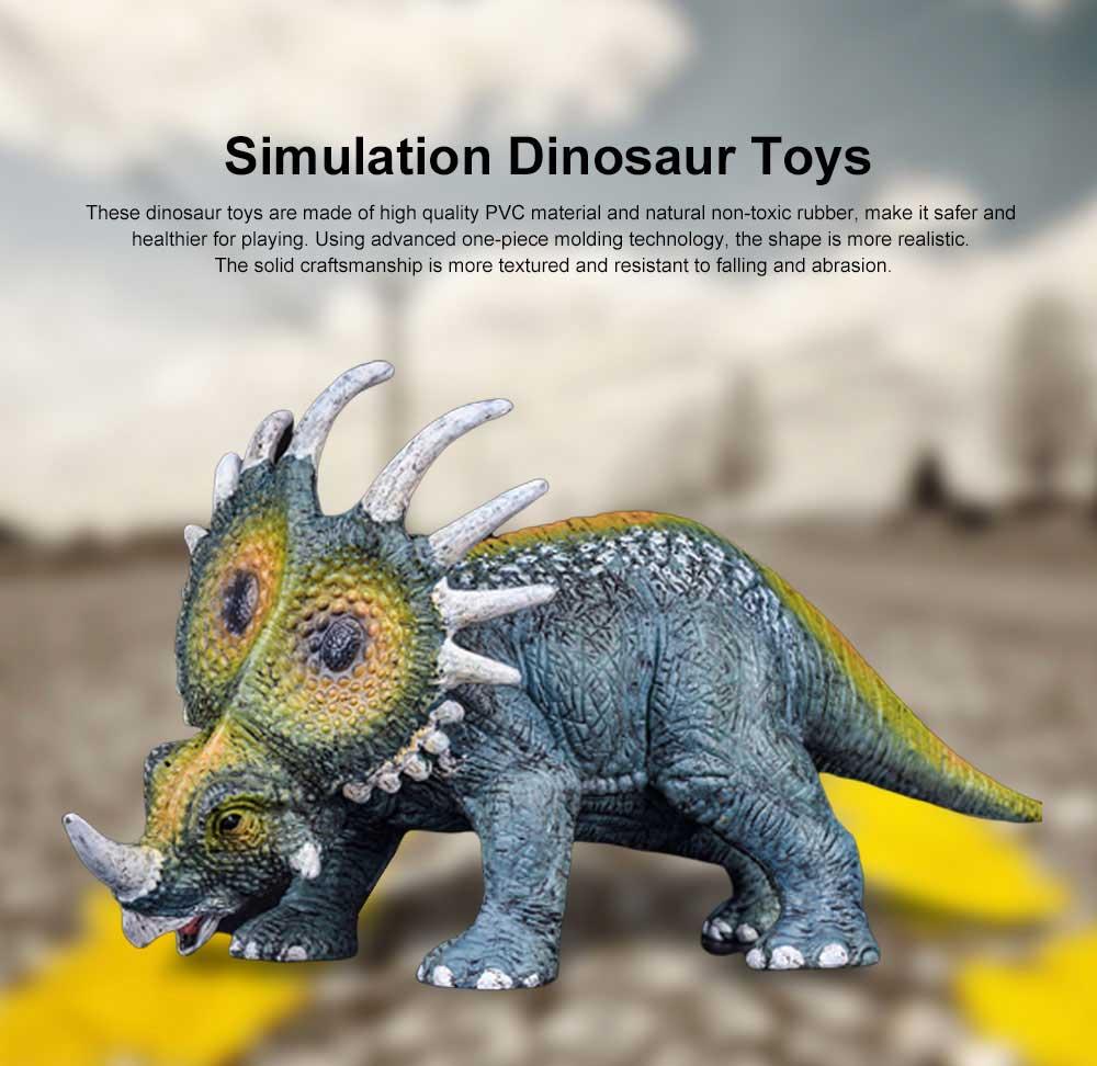 Simulation Halberd Dinosaur Toys, Solid No Stitching PVC Dinosaur Model, Educational Realistic Dinosaur Figures 0