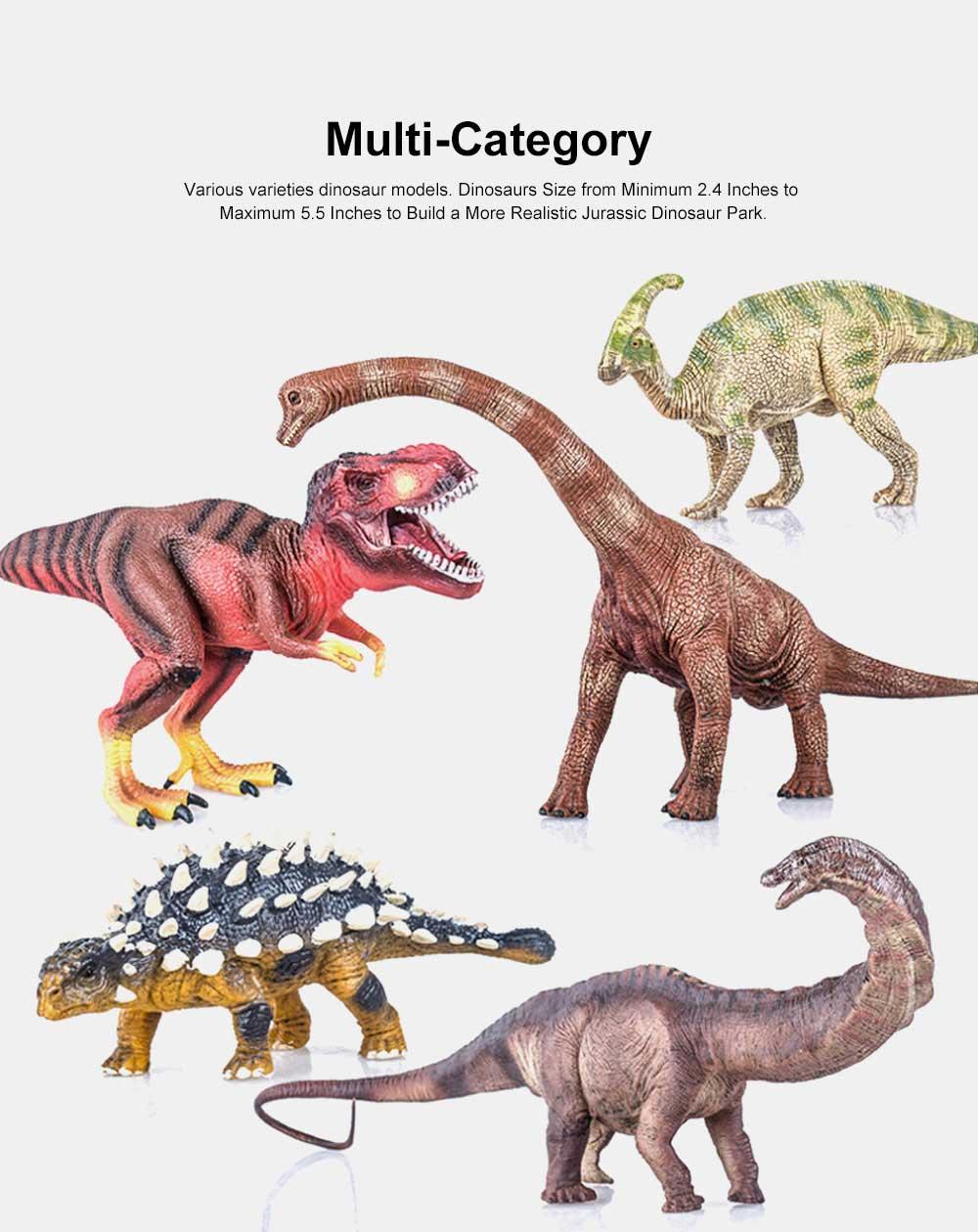 Simulation Halberd Dinosaur Toys, Solid No Stitching PVC Dinosaur Model, Educational Realistic Dinosaur Figures 2