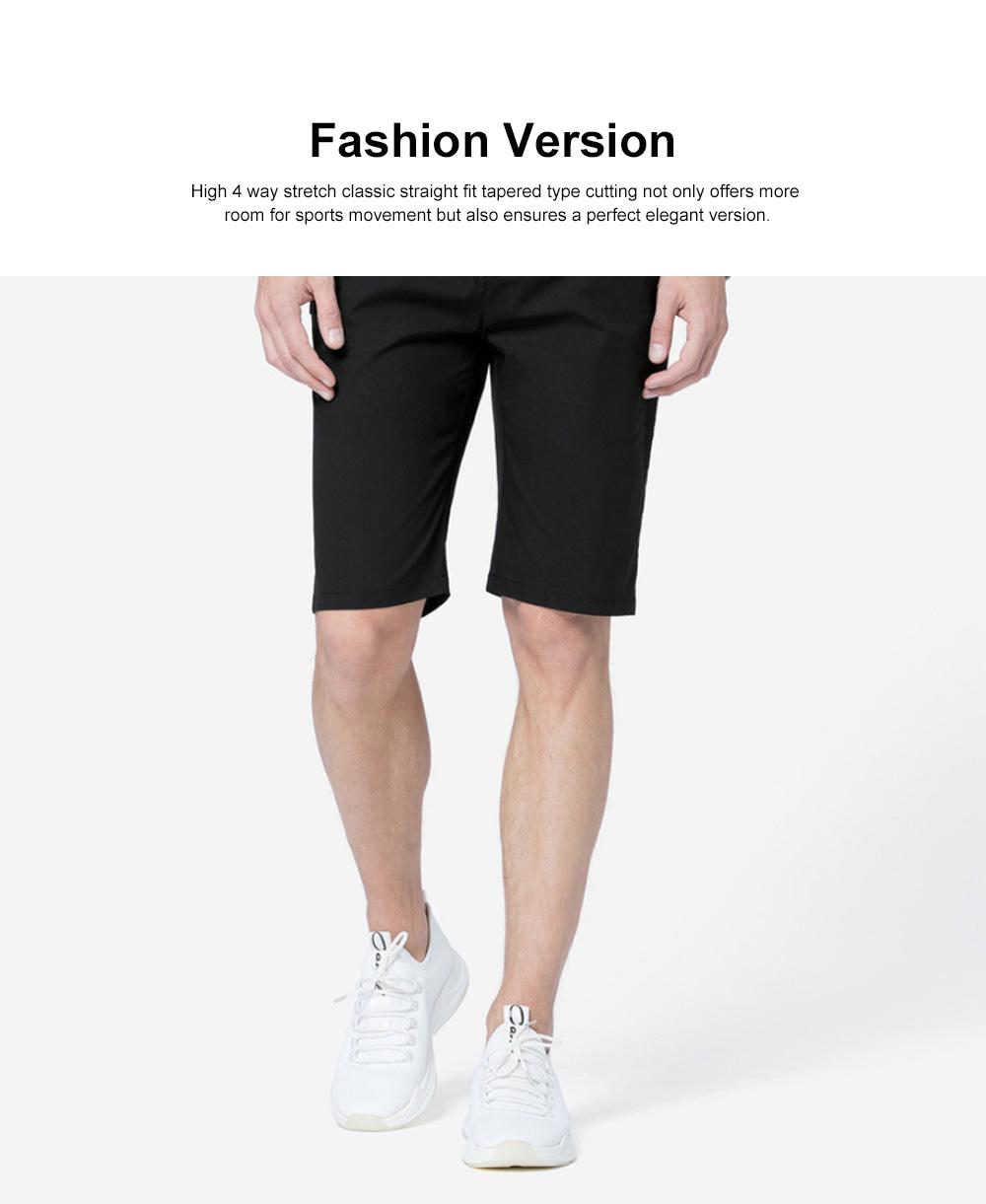 Mens Casual Classic Shorts, Fit Hybrid Chino Shorts, Drawstring Summer Beach Pants with 2 Pockets 1