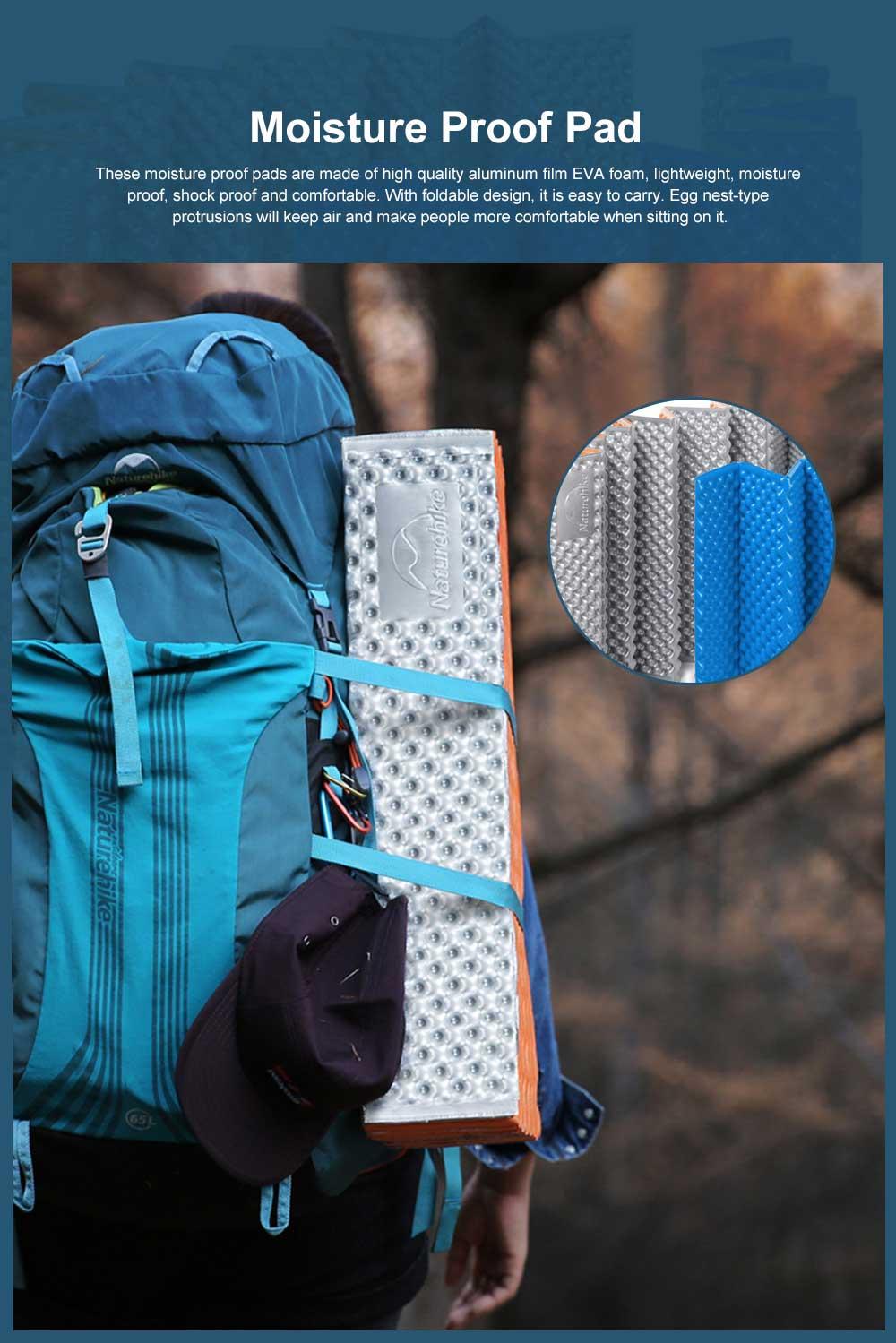 Moisture Proof Sleeping Pad, Portable Eva Aluminum Film Floor Mat, Seat Cushion Pad for Outdoor Camping Picnic 0
