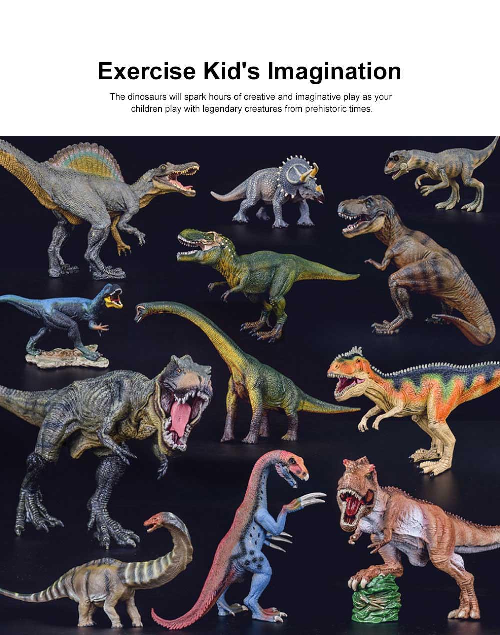 Simulation Dinosaur Toy Solid, No Stitching PVC Dinosaur Model, Educational Realistic Dinosaur Figure Tyrannosaurus Rex 3