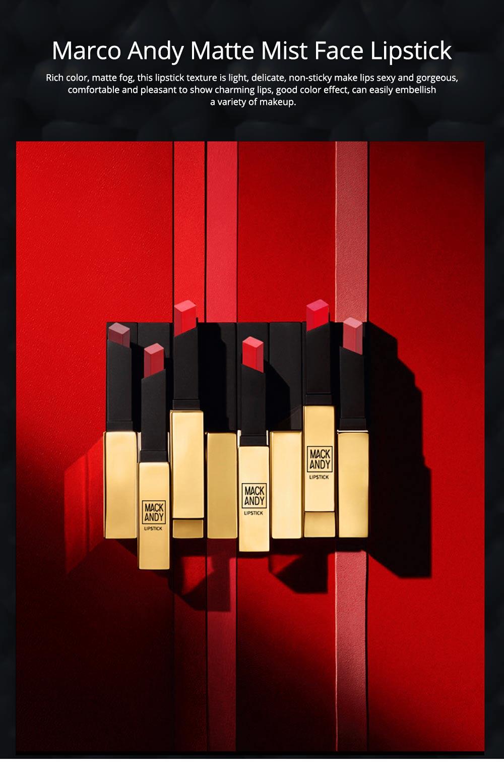 Matte Mist Face Lipstick with Little Gold Tube, Durable Light Stickiness Small Gold Bar Matte Lipstick for Girls 0