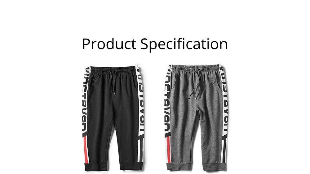 Men's Cotton Casual Shorts, Jogger Capri Pants, High Breathable Summer Short Pants with Drawstring Pockets 6