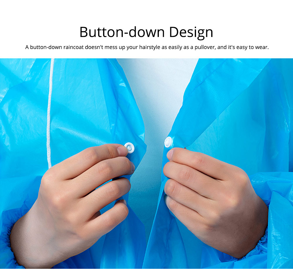 Portable Disposable Slim Raincoat Ponchos for Adults Teens, Transparent Raincoat for Camping Hiking Outdoors 2