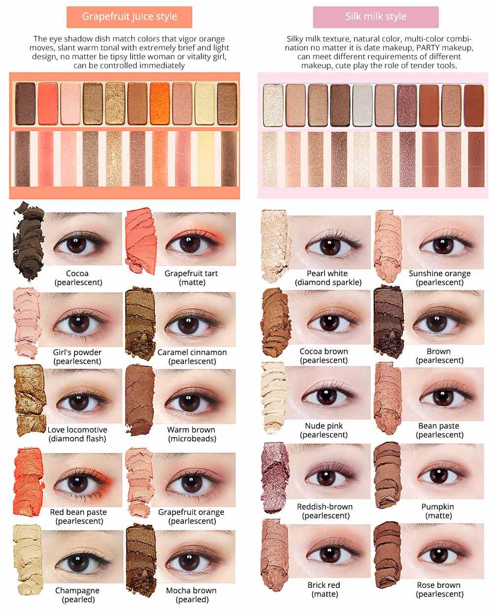 NOVO Ten Color Eye Shadow Palette, Long Lasting Eyeshadow Eye Shadow Kit, Girls Eye Makeup Beauty 3