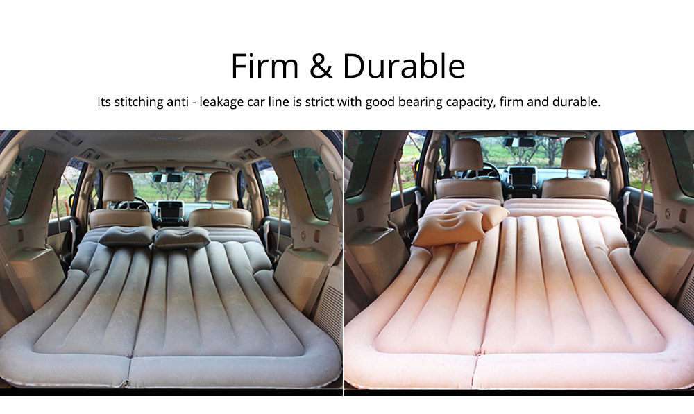 Rear Car Inflatable Bed, Inflatable Travel Car Mattress Air Bed Back Seat Sleep Rest Mat with Pillow 5