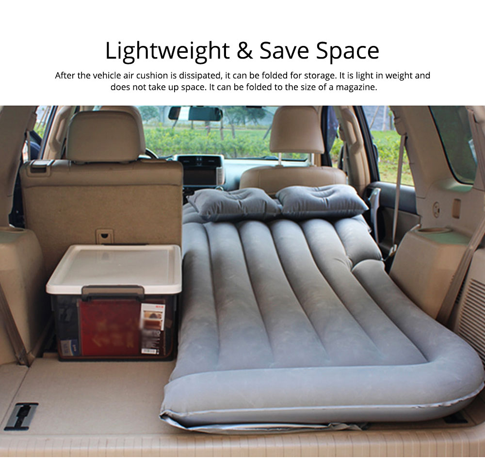 Rear Car Inflatable Bed, Inflatable Travel Car Mattress Air Bed Back Seat Sleep Rest Mat with Pillow 3