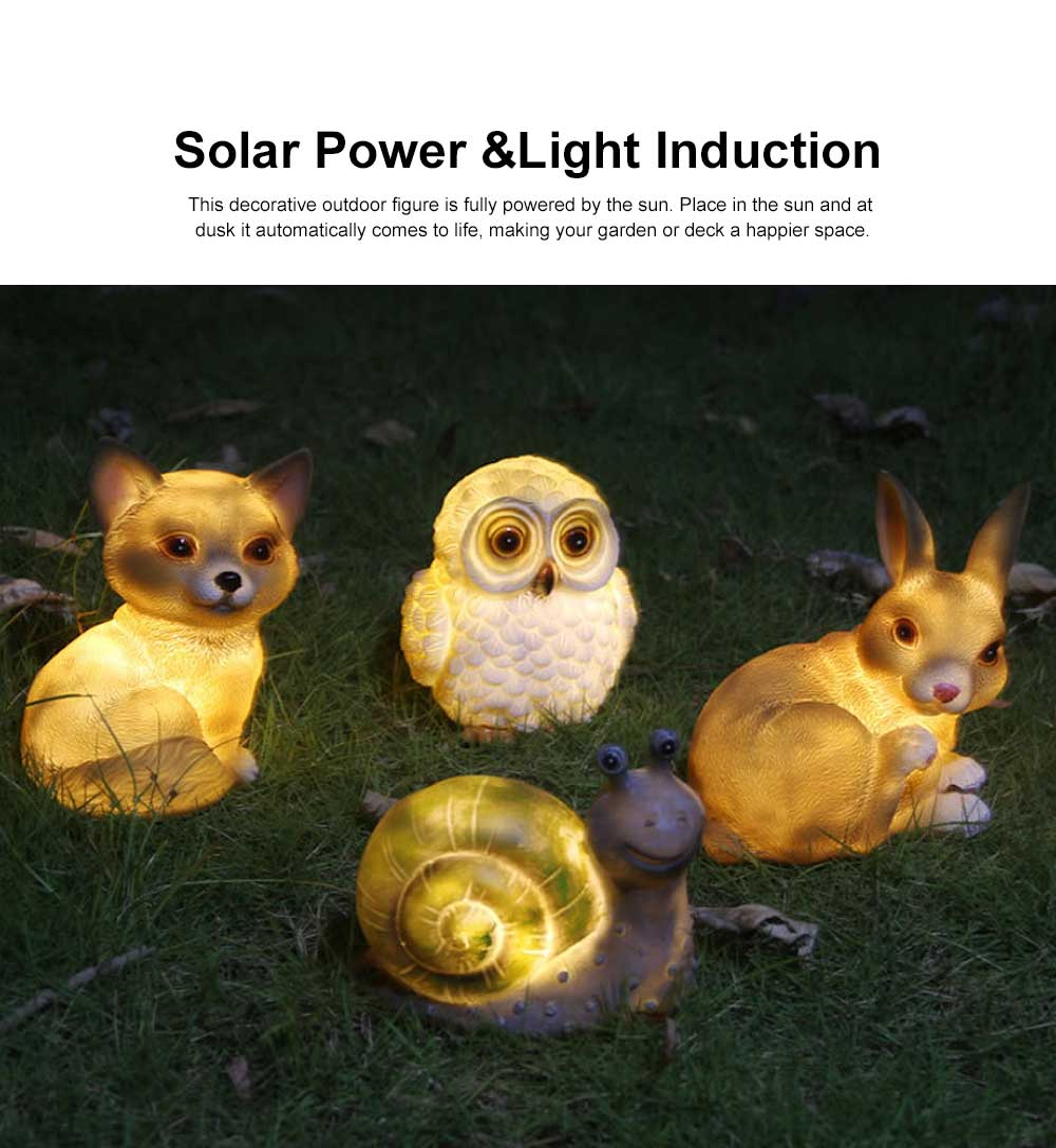 Solar Garden Light Animal LED Lamp Waterproof Outdoor Lights Ornament for Garden, Lawn, Aisle, Porch, Courtyard or Tent 3