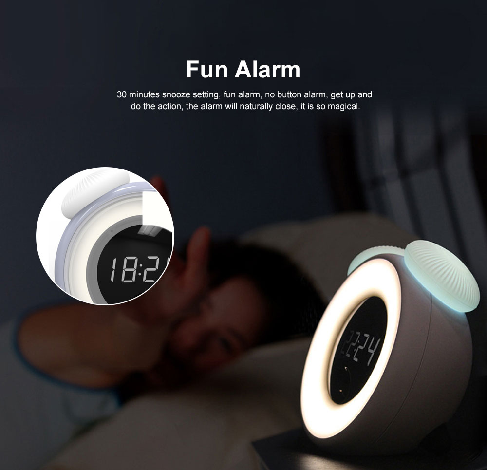 Mushroom Alarm Clocks Digital Alarm Clock Multifunctional Wake Up Intelligent Recognition Sensor Morning Clock with Night Lamp Light Best Gifts for Kids 3
