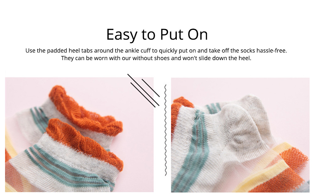 5 Pairs Baby Boy Girl Ankle Socks, Anti Slip Non Skid Breathable Cotton Summer Socks, Cute Cat Pattern Kids Accessories 4