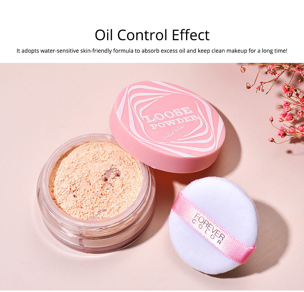 Loose Drying Matte Powder, Long-lasting Concealer Waterproof Face Powder, Oil-controlling & Moisturizing Fixing Powder 5
