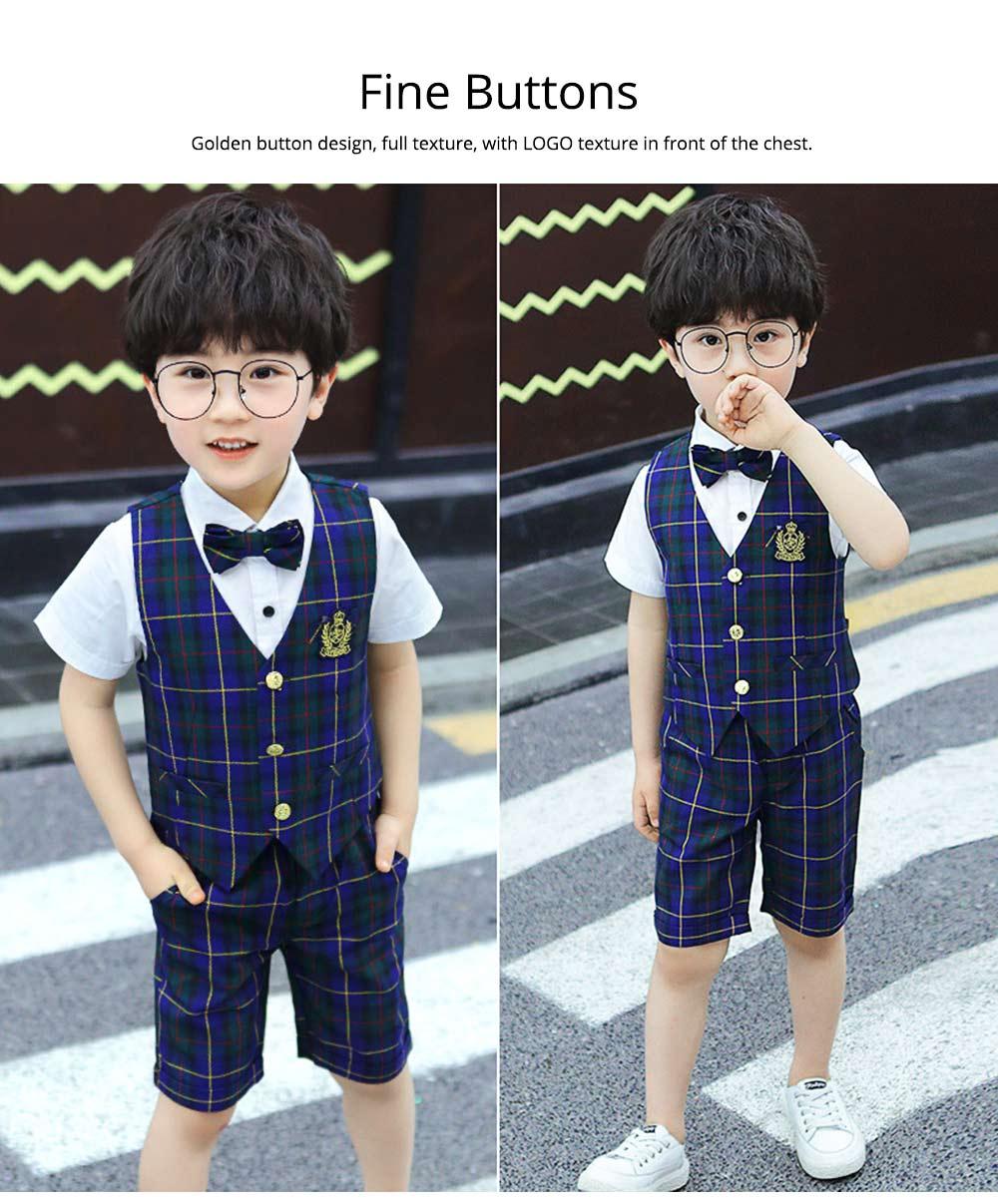 Children's Suit Waistcoat Suit, Korean Flower Children's Dress Suit, Handsome Boy Suit 3