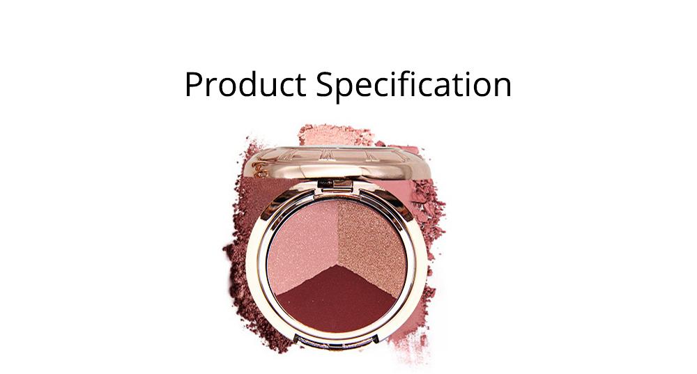 3 Colors Eyeshadow Set, Waterproof Long Lasting Makeup Eyeshadow Palette, Colorful Beauty Cosmetics 5