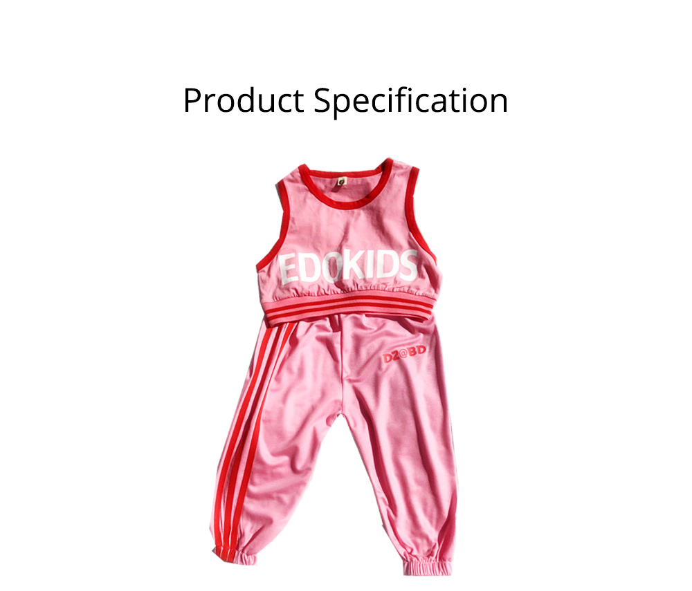 Children's Summer Suits, Printed Vest & Slacks 2-piece Set, Girls Sleeveless Top with Trousers 5