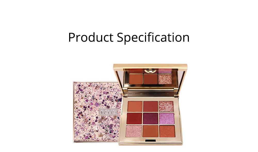 9 Colors Eyeshadow, Palette Glitter Velvet Texture Mixed Eye Makeup, Long Lasting Eye Shadow Tray Best Gift for Women 8