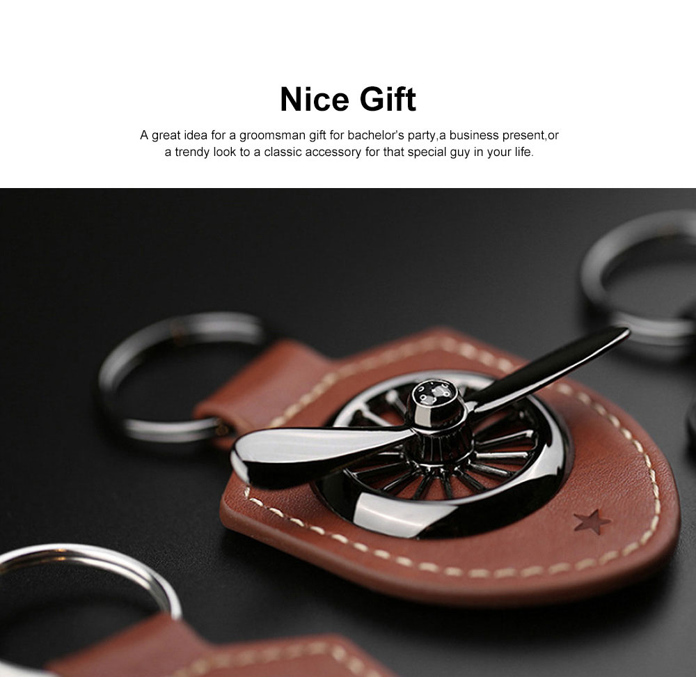 Leather Metal Key Chain Air Force No.2 Keychain Key Ring Men Fashion Accessories Gifts for Boyfriend Men 1