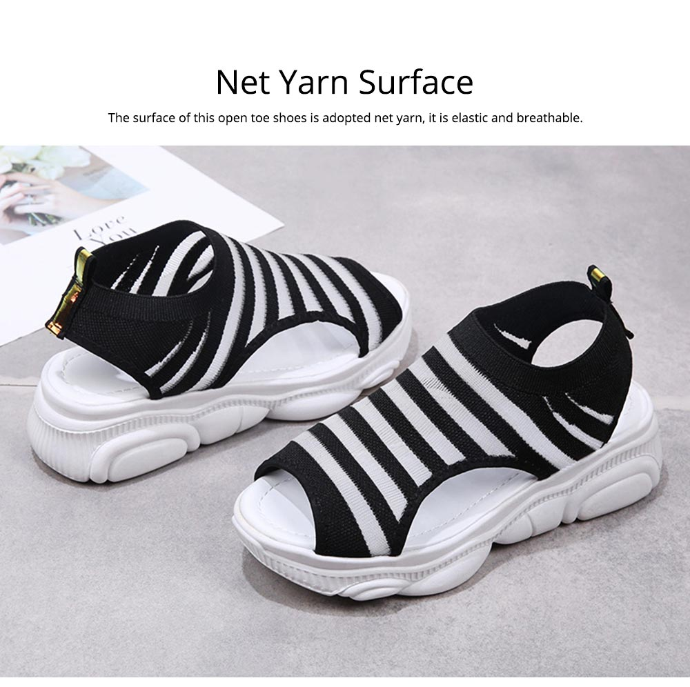 Ladies' Open Toe Sandals, Fish Mouth Shoes, Thick Soles Sport Sandals for Women 1